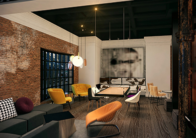 HOTEL ZEPPELIN, San Francisco, CA, Michael Wilk, Wilk ARCH, Architectural Design Firm
